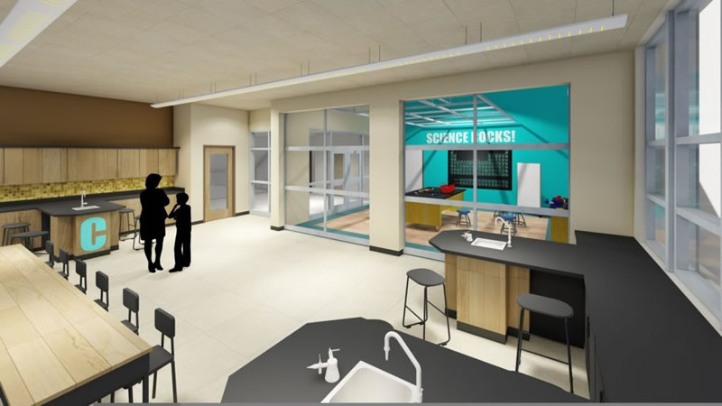 artistic rendering - new middle and high school science lab space