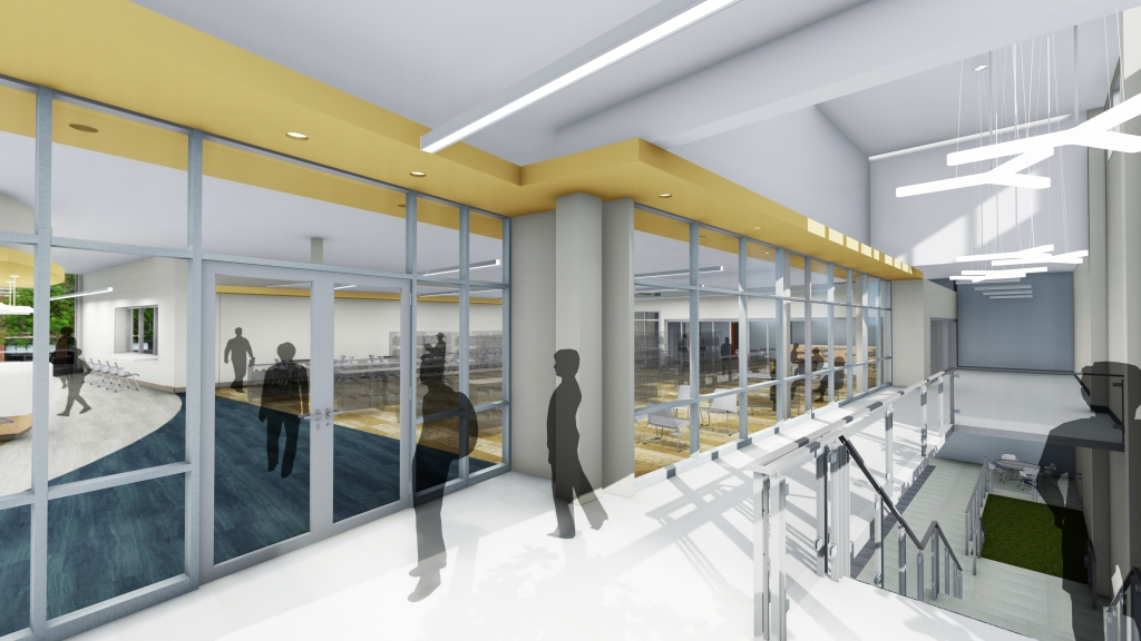 Rendering - Library Entrance (2nd Floor)