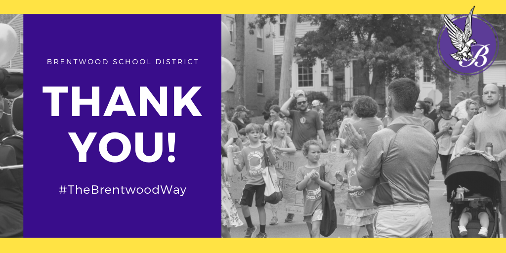 Thank you, Brentwood Community